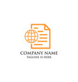 business document logo vector image vector image
