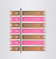 Business infographics template banner vector image vector image