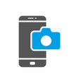 camera application smartphone modern smartphone vector image vector image