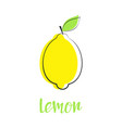 card with lemon isolated on white background vector image vector image