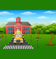 cartoon kids are going to home vector image