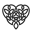 celtic heart ornament vector image vector image