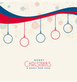 christmas background with snowflakes and line vector image vector image