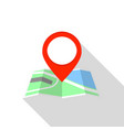 city map pin icon flat style vector image