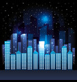 city scene at night vector image vector image