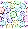 clock patten vector image vector image