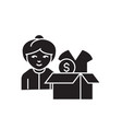 clothes donation black concept icon vector image