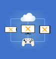 cloud gaming streaming service with smart devices vector image