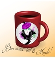 Coffee Beautiful girl drawn on a cup vector image