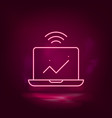 computer analytics smart neon icon vector image vector image