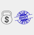 dotted dollar weight icon and scratched vector image vector image