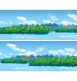 estuary a large tropical river vector image