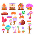 fairy tale candy land set vector image