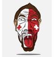 football fan from Switzerland vector image