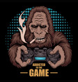 game addicted bigfoot vector image vector image