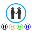 gentleman handshake rounded icon vector image vector image