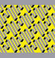 geometric square stripe seamless pattern vector image vector image