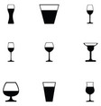 glass drink icon set vector image