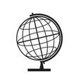 globe sign black icon on vector image