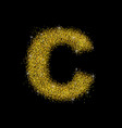 gold dust font type letter c vector image