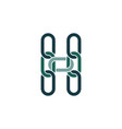 h logo letter link chain icon element vector image
