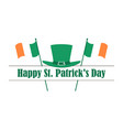 happy st patricks day flag of ireland vector image