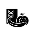 healthy food icon black sign vector image vector image