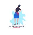 hip osteoarthritis icon vector image vector image
