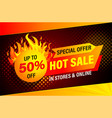 hot sale special offer banner vector image vector image