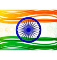 Indian flag theme vector image vector image