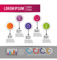 infographic data information plan with lorem ipsum vector image
