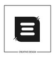 initial letter e logo template design vector image