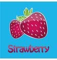 juicy strawberry logo vector image vector image