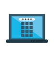 laptop security system technology vector image vector image