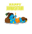 little krishna cartoon on a white vector image vector image