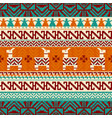 llamas and geometric pattern seamless background vector image vector image