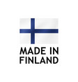 made in finland label tag template vector image vector image