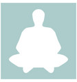 meditation man the white color icon vector image vector image