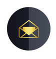 message icon black circle background image vector image