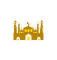 mosque icon isolated on white background vector image vector image