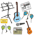 music items vector image vector image