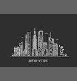new york skyline vector image vector image