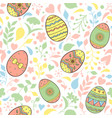 patterns with easter eggs vector image vector image