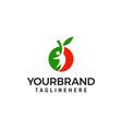 people fruit logo design concept template vector image