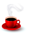 perfect red cup coffee with steam coffee design vector image vector image