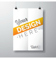poster template a folded paper sheet vector image vector image