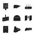 public electric transport and other web icon in vector image vector image
