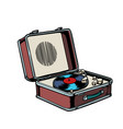 retro vinyl record player vector image vector image