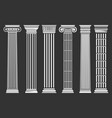 roman and greek columns set vector image vector image