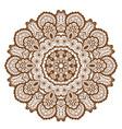 round brown mandala vector image